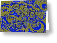 Blue Gold 40 Greeting Card