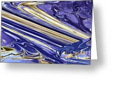 Blue Gold Greeting Card