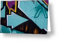 Blue Graffiti Arrow Square Greeting Card