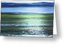 Blue Green Landscape Greeting Card