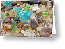 Blue Green Seaglass Coastal Beach Baslee Troutman Greeting Card by Baslee Troutman