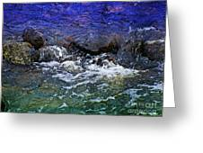 Blue Green Water Greeting Card