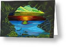 Blue Grotto Greeting Card by Beverly Marshall