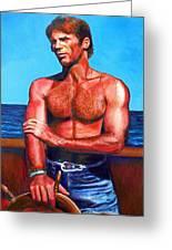 Blue Grotto Boatman Greeting Card