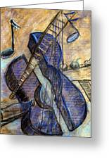 Blue Guitar - About Pablo Picasso Greeting Card