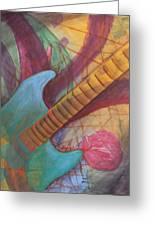 Blue Guitar Greeting Card