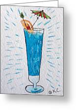 Blue Hawaiian Cocktail Greeting Card