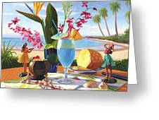 Blue Hawaiian Greeting Card