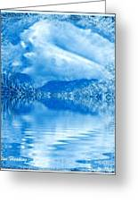 Blue Healing Greeting Card
