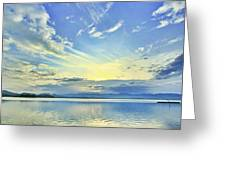 Blue Heaven Greeting Card by Suradej Chuephanich