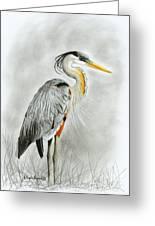 Blue Heron 3 Greeting Card