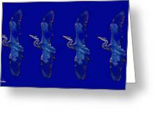 Blue Heron Ballet Greeting Card