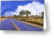 Blue Highway 2 Greeting Card