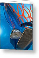 Blue Hot Rod Greeting Card