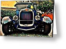 Blue Hot Rod Greeting Card by Stanley  Funk
