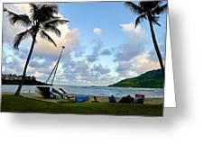 Blue Hour At Kalapaki Beach Greeting Card