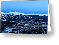 Blue Hour In Breckenridge Greeting Card