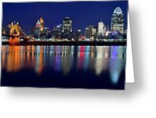 Blue Hour In Cincinnati Greeting Card