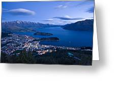 Blue Hour In Queenstown Greeting Card