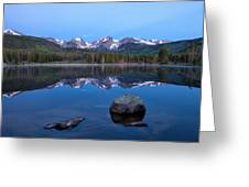Blue Hour On Sprague Lake Greeting Card