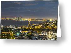 Blue Hour Puerto Vallarta Mexico Greeting Card