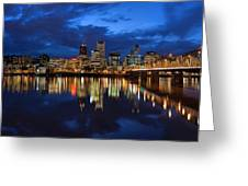 Blue Hour Reflection II Greeting Card