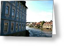 Blue House - Bamberg Greeting Card