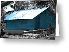 Blue House  Greeting Card by Bobby Mandal