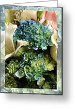 Blue Hydrangeas Painterly Greeting Card