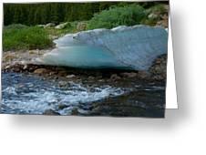 Blue Ice Greeting Card