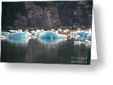 Blue Ice Flows Greeting Card