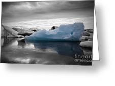 Blue Ice Iceland Greeting Card