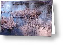 Blue Ice And Reflections Greeting Card