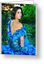Blue Ice Princess Greeting Card