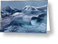 Blue Ice Sculpture Greeting Card