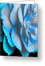 Blue Impatience Greeting Card