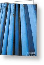 Blue Industrial Pipes Greeting Card