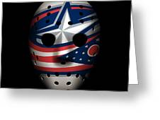 Blue Jackets Goalie Mask Greeting Card