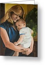 Blue Jean Madonna Greeting Card