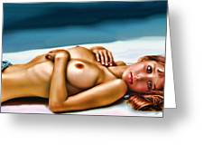 Blue Jeans And Big Eyes Greeting Card