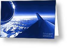 Blue Jet Pop Art Plane Greeting Card
