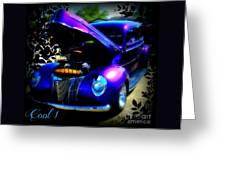 Blue Jewel Art Greeting Card
