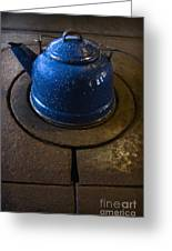 Blue Kettle Greeting Card