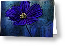 Blue Lady Greeting Card