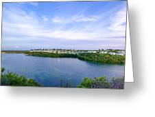 Blue Lagoon Cottages Greeting Card