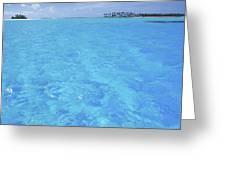 Blue Lagoon. Greeting Card