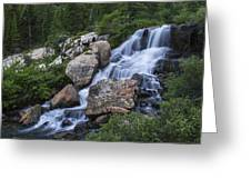 Blue Lake Falls Greeting Card by Michael J Bauer