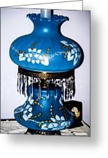 Blue Lamp Greeting Card