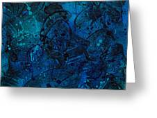 Blue Lava Flow Greeting Card