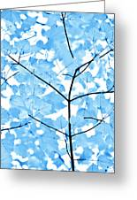 Blue Leaves Melody Greeting Card